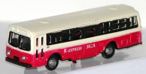 Bus - Type 1, Red - 12 Volt Lights N Scale